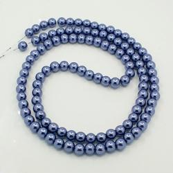 1 Strang Glas Perlen 14 mm , Loch: 1 m..