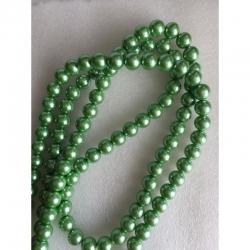 Wachsglas - Perlen Maigrün