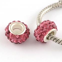 Polymer Lehmrhinestone Perle rosa/pink