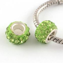 Polymer Lehmrhinestone Perle hellgrün