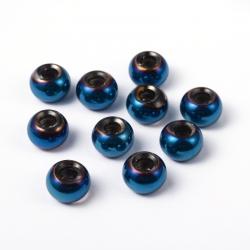 Glasperlen,deepsky-blau,15 mm x10 mm ,..
