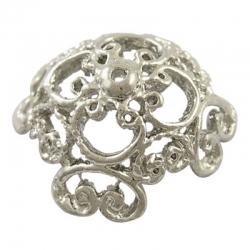 Perlenkappen Blume, 32 mm x 32 mm x 2 ..