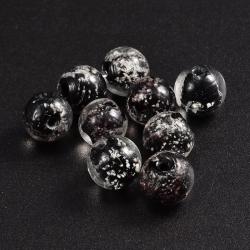 Nachtleuchtender Glasperlen, schwarz 8..
