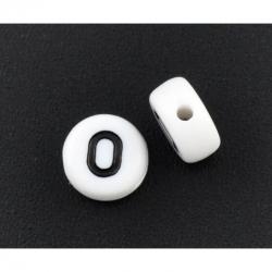 10 stk Acrylbuchstaben O, 7mm, bohrung..