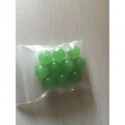 10 stk grüne Glasperlen