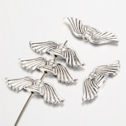 Flügel-Perle Tibetsilber, Antiksilbern..
