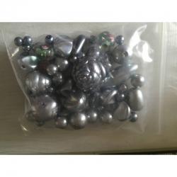 Budgetpackung Kunststoff-Glasperlenmix..