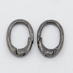 Ring zum aufschieben, oval, Schwarz, 1..