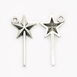 Zauberstab Star Charms 26x13x2 mm, Boh..