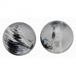 10 stk Transparente Acryl-Perlen, Schw..