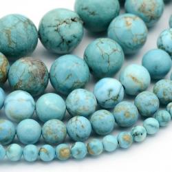 30 stk synthetische Türkis-Perle , 4~1..