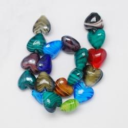 Handgemachte Murano Glasperlen Herzfor..