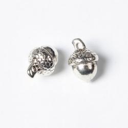Eichel Charms,Antik Silber Farbe, 15.5..