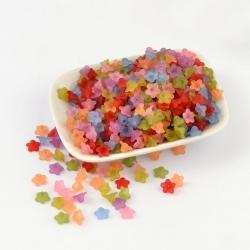 10 stk Acryl-Perlen Blume, gefrostet, ..