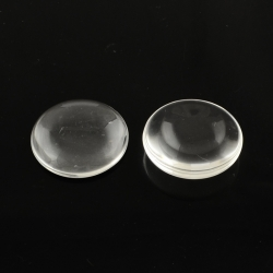 Glascabochons, Transparent, 20x5.5 mm