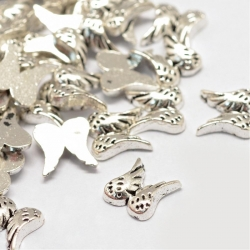 Cabochons, Flügel, Antik Silber Farbe,..