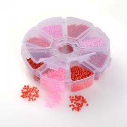 Rocailles glas rosatöne ) 2 mm, Loch: ..