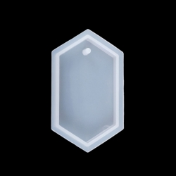 Silikon Gießform Hexagon Weiß 70mm x 3..