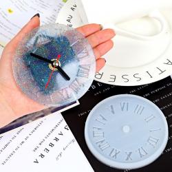 Silikon Gießform Uhr mit Römische Zahl..