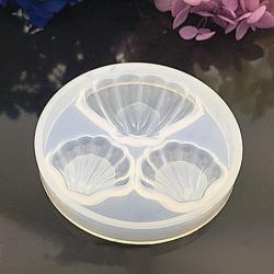 Silikonform Muscheln, weiß, 62x9 mm
