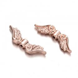 Flügel-Perlen, , Roségold, 7x23x3 mm, ..