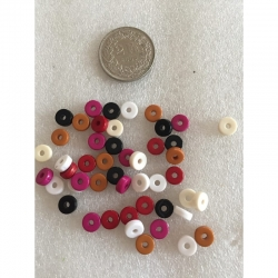 Mix Kunststoffperlen 8x3mm