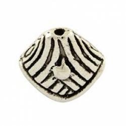 Perlenkappe, Antiksilberfarbe, 14x15x9..
