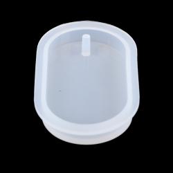 Silikon Gießform Anhänger Oval