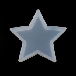 Silikon Gießform Stern Weiß 70mm x 70mm