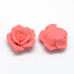Porzellan Cabochons, Rose  20 ~ 22x20 ..