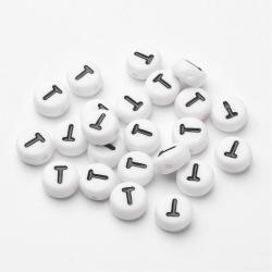"""10 stk Acryl Buchstaben """"E"""" Perlen, 7m.."""