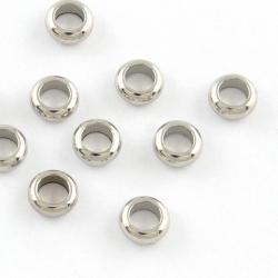 10 stk Edelstahl Perle Spacer, 5x2 mm,..