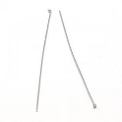 Edelstahl headpins, 50x0.6 mm, Packung..