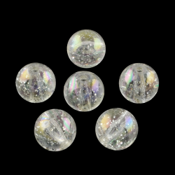 Transparente Acrylperlen, mit bunten G..