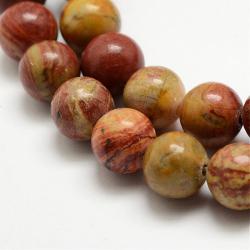 Natürliche rote Regenbogenjaspis-Perle..