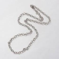 304 Edelstahl Twisted Halskette, mit K..
