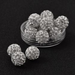 Polymer Strassperle Kristall 12mm Bohr..
