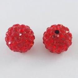 Polymer Ton Strass Perlen, Siam, 12 mm..