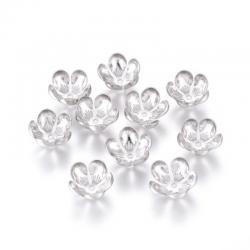 10 Stk Edelstahl Perlenkappen, Blume, ..