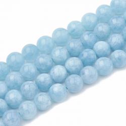 Strang natürliche Aquamarin Perlen 6 ~..