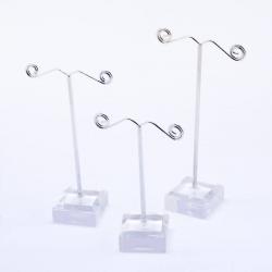 3er Set Ohrring Ständer, transparent, ..