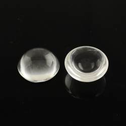 Glas Cabochons, Transparent , 14x7 mm