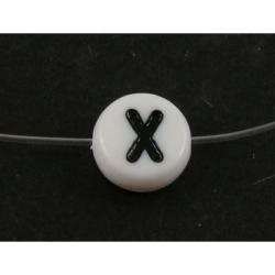 """10 stk Acryl Buchstabenperle """"X"""" ca 7m.."""