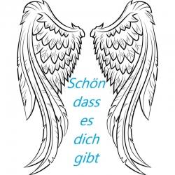 Engelkärtchen Flügel ( ca Visitenkarte..