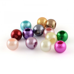 10 stk Kunststoff Perlen, gemischte fa..