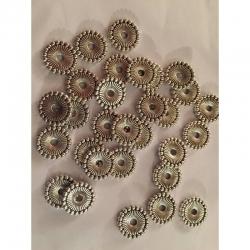 10 stk. Zwischenperlen metall 12x2mm