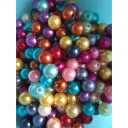 Mix Kunststoffperle 10mm 25 gr