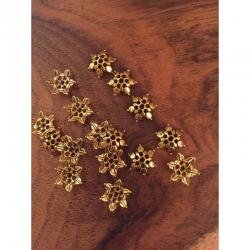 10 stk Perlkappen 12mm, antikgold