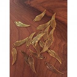 Flügel antikgold, 30x9mm