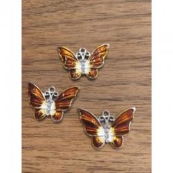 Schmetterling braun mit Strass 22x32x2mm